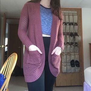 Charlotte Russe | Pink Knit Cardigan